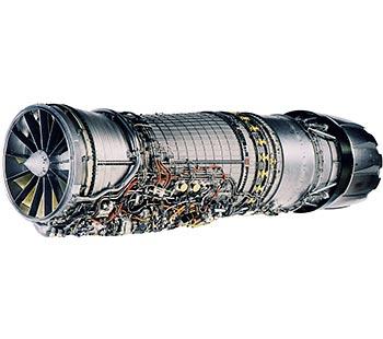 """F110 - 用于F-16C/D""""战隼""""轻型战斗机、F-14""""山猫""""战斗机、F-15""""鹰""""重型战斗机等""""三代机"""",1985年开始服役"""