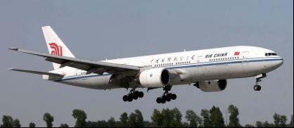 中国国际航空公司的波音777大型宽体客机